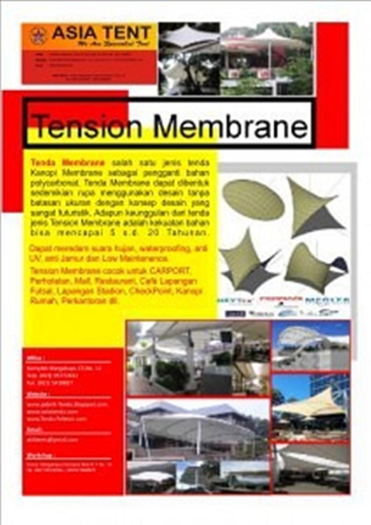 brosur tenda membrane V amp