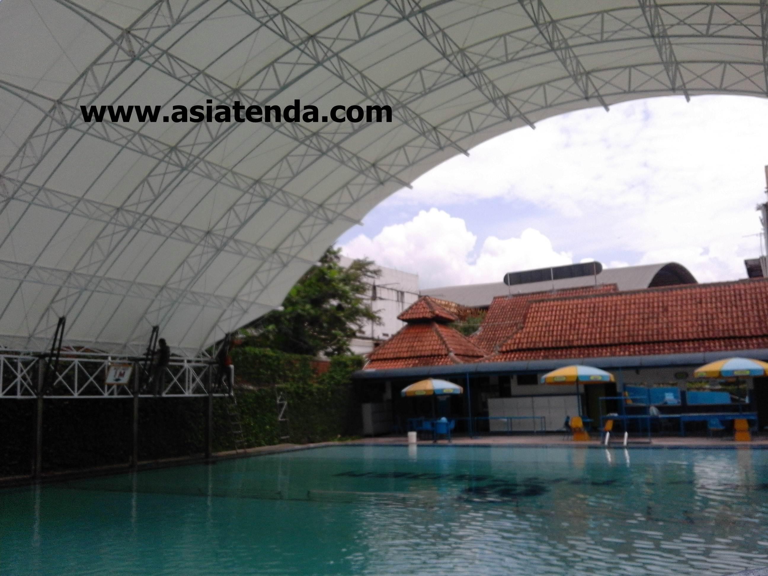 portofolio tenda membrane kolam renang