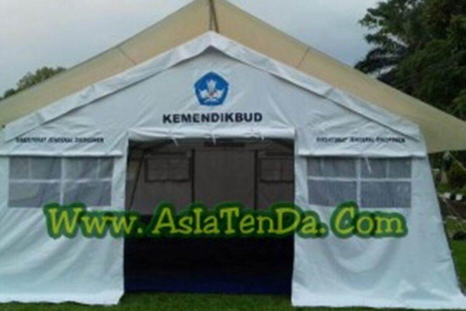 tenda darurat sekolah tampak depan