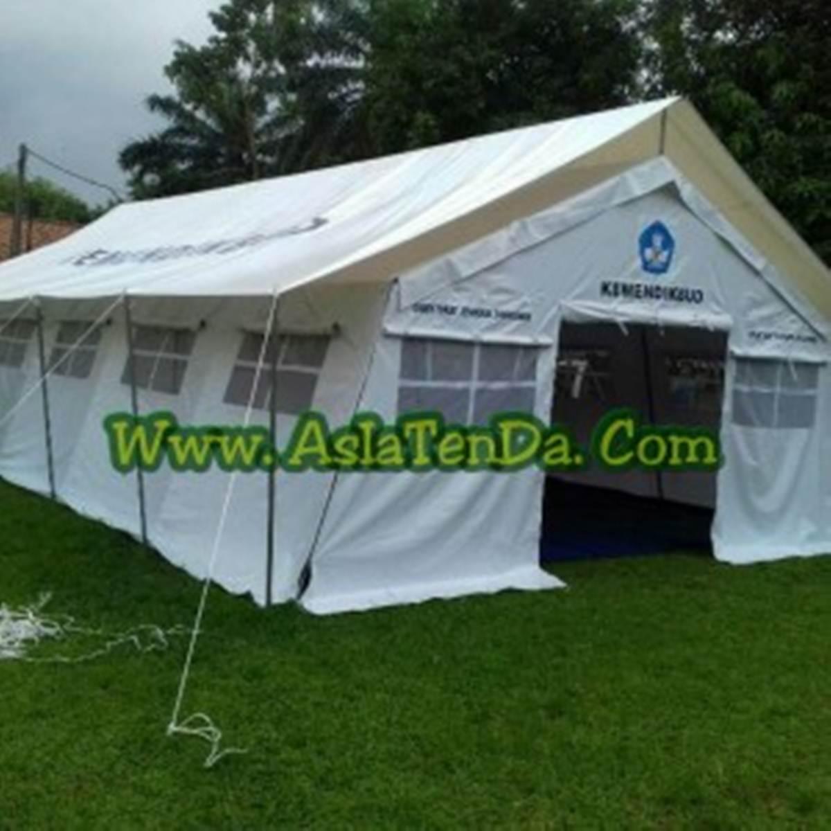 tenda darurat sekolah tampak samping