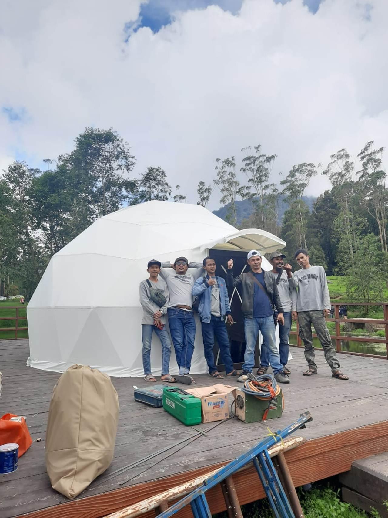 tenda geodesic kubah